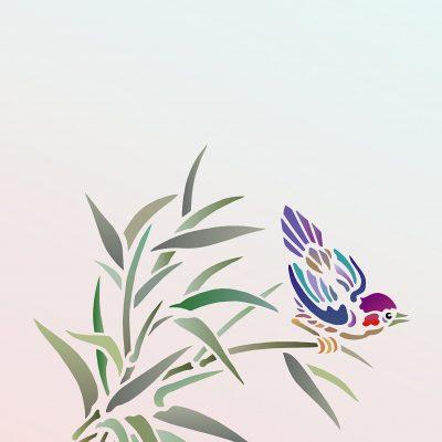 bamboo-bird-stencil