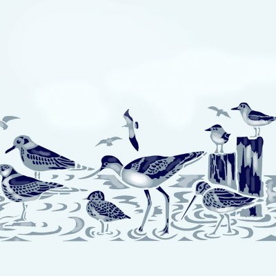 coastal-birds-border-stencil