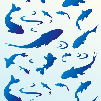 fish-silhouettes-stencil