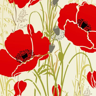 large-poppies-theme-stencil