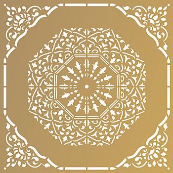 moroccan arabesque stencil henny donovan motif. Black Bedroom Furniture Sets. Home Design Ideas
