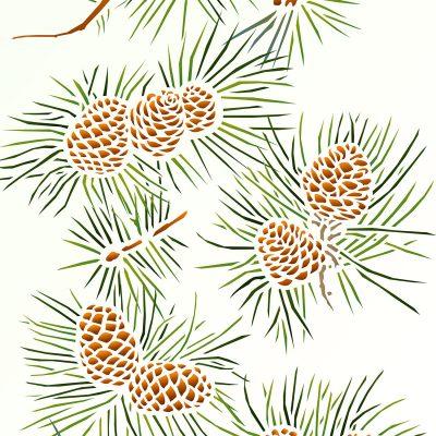 pine-cones-stencil
