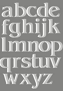 large letters theme pack stencil a z