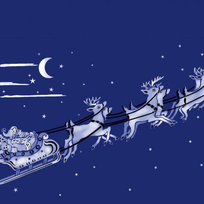 large-sleigh-reindeer-stencil