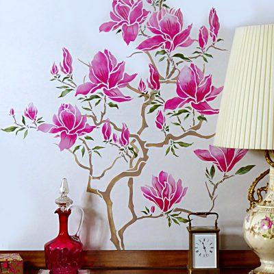 flowering-magnolia-stencil-1